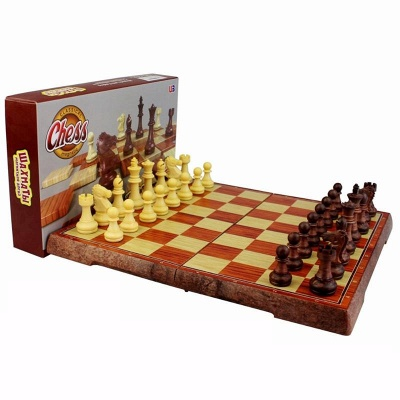 International Chess Checkers Folding Grain Board Chess Game