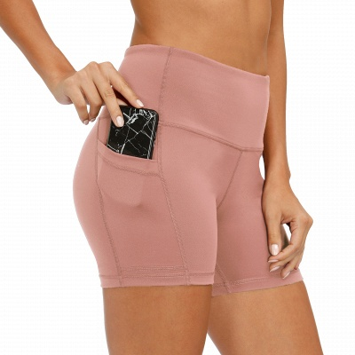 Ladies Spliced High-Waisted Lift Buttock Yoga Shorts | Sports Gym Wear Leggings Elastic Fitness Running Sport Hot Pants