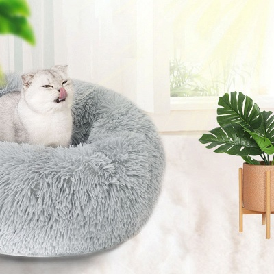 Ultra Soft Washable Dog and Cat Cushion Bed | Comfortable Round  Cuddler Dog Bed_42