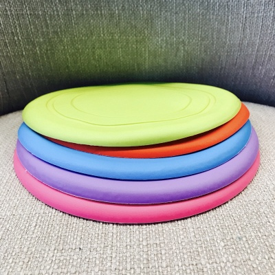 Soft Frisbee Rubber Vocal Griding Teeth Frisbee Dog Supplies Toys_3