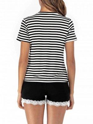 Soft Pajamas Set Casual Summer Home Clothes_2
