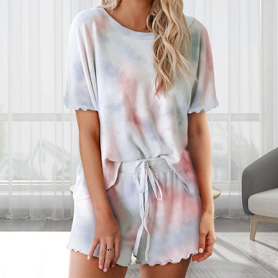 Women's Fashion Tie-dyed Pajamas_1