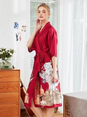 Sexy Morning Dressing Gown for Women_4