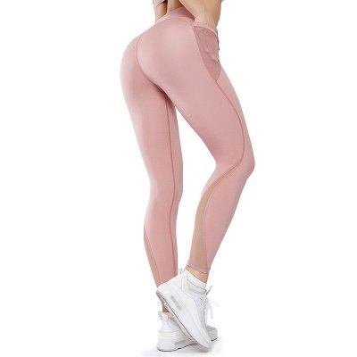 Women High Waist Sports Gym Wear Leggings Yoga Pants | Elastic Fitness Lady Overall Full Tights Workout_1