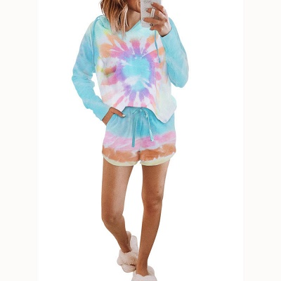 2021 Trendy New Style Tie-dyed Homewear Twinset_1