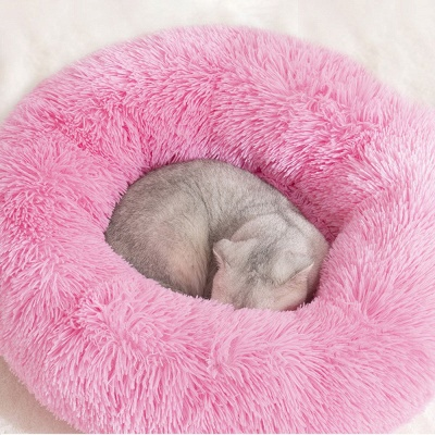 Ultra Soft Washable Dog and Cat Cushion Bed | Comfortable Round  Cuddler Dog Bed_10
