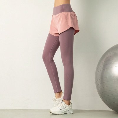 Women High Waist Sports Gym Wear Leggings Elastic Yoga pants Fitness Lady Overall Full Tights Workout_1