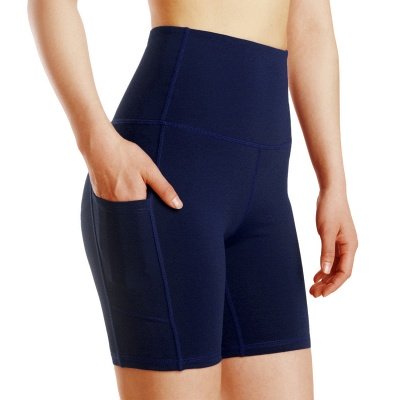 Spring/Summer Ladies Yoga shorts High-waisted Sports Gym Wear Leggings Elastic Fitness running Sport Hot Pants_4