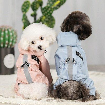 Cute Pink Summer Outdoor Puppy Pet Ruffwear Accessories Dog Rain Coat_3