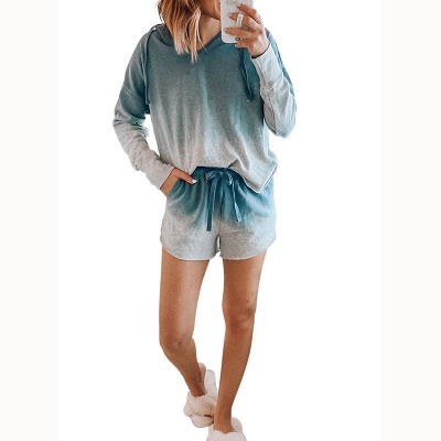 2021 Trendy New Style Tie-dyed Homewear Twinset_3