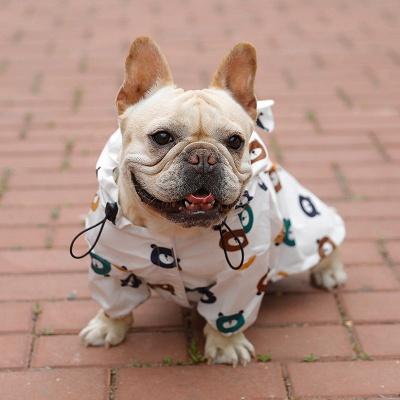 Cute Dog Jumpsuit Raincoat Adjustable Lightweight Breathable Rain Poncho_2