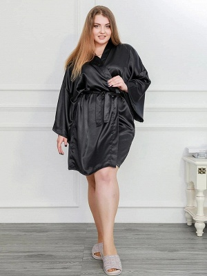 Silky Women Bathrobe Sexy Home Set