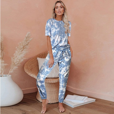 Stylish Tie-dyed Loungewear Track Suit for Sports_2