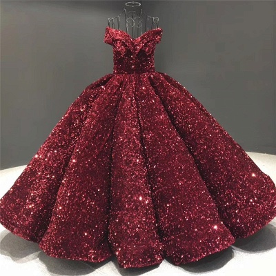Sparkly Sweetheart Off the Shoulder Ball Gown Prom Dress | Dubai Luxury Bridal Gown_4
