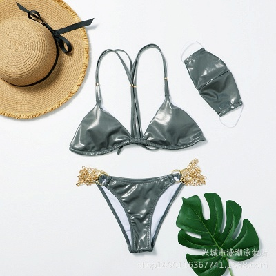 Sexy Split Three-pieces Bikini Swimsuit_3