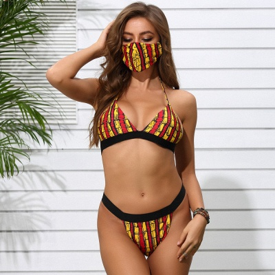 Beachwear With A Matching Face Mask 2020 Sexy Bikinis_7