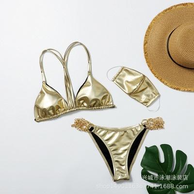 Sexy Split Three-pieces Bikini Swimsuit_8