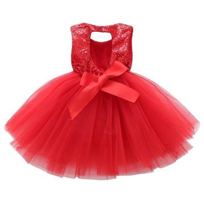Princess Sequin Ball Gown Flower Girl Dresses | Knee Length Kids Party dresses_6