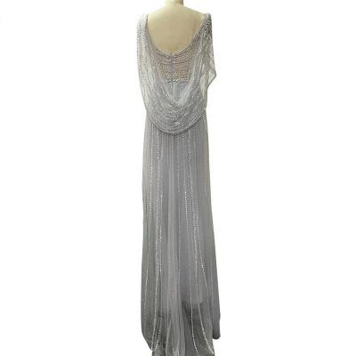 Luxury V-neck Beaded Fitted Evening Dresses | Dubai Diamond Formal Dress_8