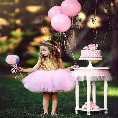 Princess Sequin Ball Gown Flower Girl Dresses | Knee Length Kids Party dresses_4