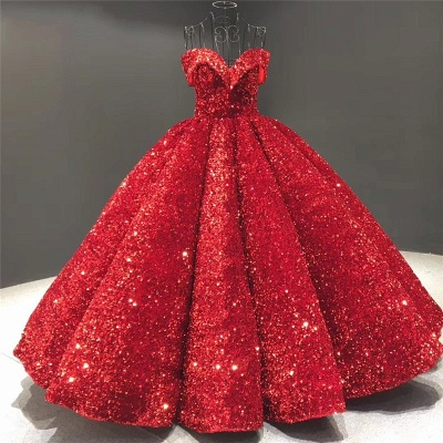 Sparkly Sweetheart Off the Shoulder Ball Gown Prom Dress   Dubai Luxury Bridal Gown_3