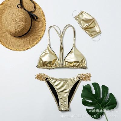 Sexy Split Three-pieces Bikini Swimsuit_2