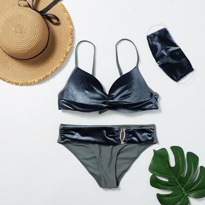 Fashionable Trikini with Matching Mask 2020 Trendy Beachwear_4