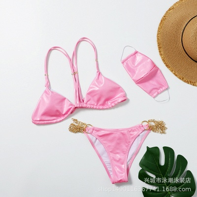 Sexy Split Three-pieces Bikini Swimsuit_1
