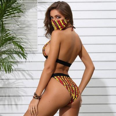 Beachwear With A Matching Face Mask 2020 Sexy Bikinis_6