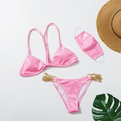 Sexy Split Three-pieces Bikini Swimsuit_6
