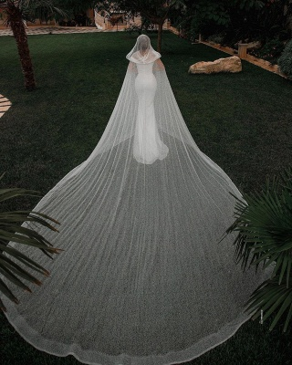Chic Sweetheart Off The Shoulder Sash Crystal Sequin Floor Length Sheath Wedding dresses With Shawl_4