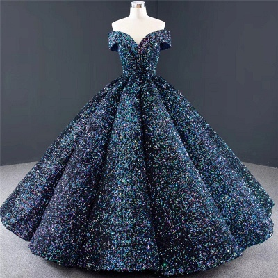 Sparkly Sweetheart Off the Shoulder Ball Gown Prom Dress | Dubai Luxury Bridal Gown_5