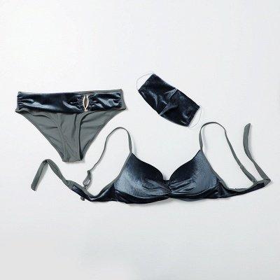 Fashionable Trikini with Matching Mask 2020 Trendy Beachwear_5