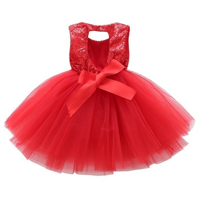 Princess Sequin Ball Gown Flower Girl Dresses | Knee Length Kids Party dresses_6