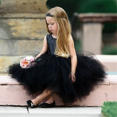 Princess Sequin Ball Gown Flower Girl Dresses | Knee Length Kids Party dresses_2