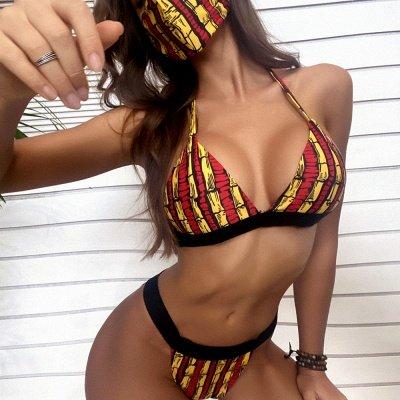 Beachwear With A Matching Face Mask 2020 Sexy Bikinis_3