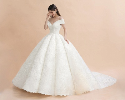Princess Sweetheart Lace Ball Gown Wedding Dresses | Off The Shoulder Bridal Gown_8