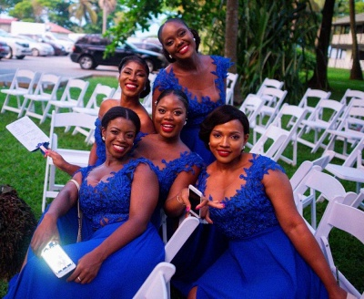 Sexy Straps A Line Bridesmaid Dresses For Wedding | Applique Party Dress_3