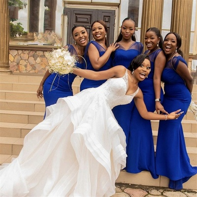 V Neck Mermaid Bridesmaid Dresses | 2020 Bridesmaid Dresses with Straps_4
