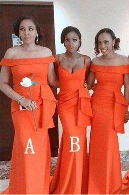 Sexy Off The Shoulder Sheath Bridesmaid Dresses | Convertable Party Dress_1