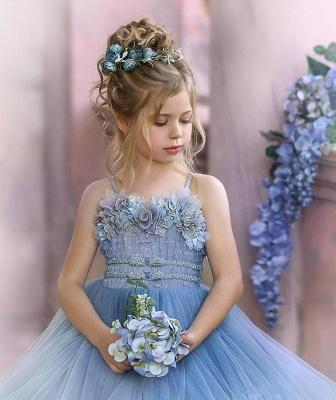Cute Sequin Ball Gown Flower Girl Dresses | Little Tutu Girls Ruffles Party Dress For Wedding_8