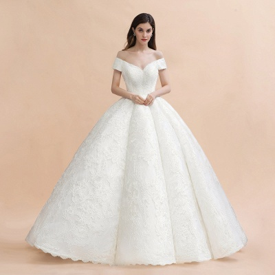 Princess Sweetheart Lace Ball Gown Wedding Dresses | Off The Shoulder Bridal Gown_6