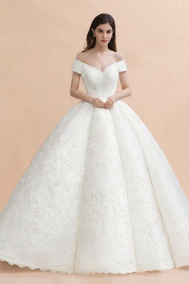 Princess Sweetheart Lace Ball Gown Wedding Dresses | Off The Shoulder Bridal Gown_3