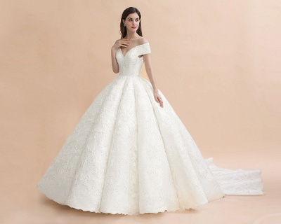 Princess Sweetheart Lace Ball Gown Wedding Dresses | Off The Shoulder Bridal Gown_7