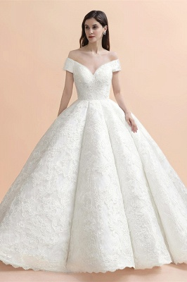 Princess Sweetheart Lace Ball Gown Wedding Dresses | Off The Shoulder Bridal Gown_1