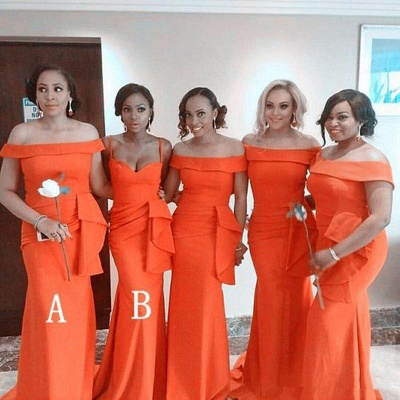 Sexy Off The Shoulder Sheath Bridesmaid Dresses | Convertable Party Dress_2