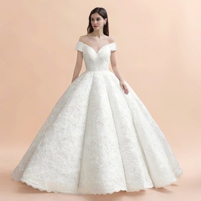Princess Sweetheart Lace Ball Gown Wedding Dresses | Off The Shoulder Bridal Gown_9