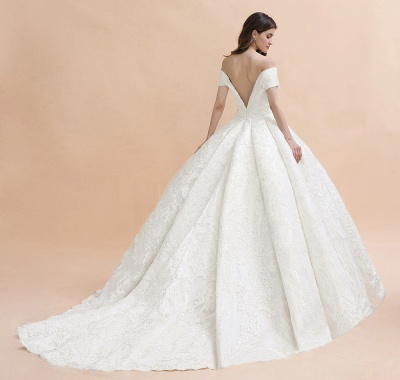 Princess Sweetheart Lace Ball Gown Wedding Dresses | Off The Shoulder Bridal Gown_11