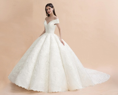 Princess Sweetheart Lace Ball Gown Wedding Dresses | Off The Shoulder Bridal Gown_10