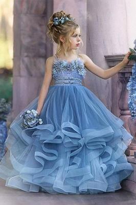 Cute Sequin Ball Gown Flower Girl Dresses   Little Tutu Girls Ruffles Party Dress For Wedding_2